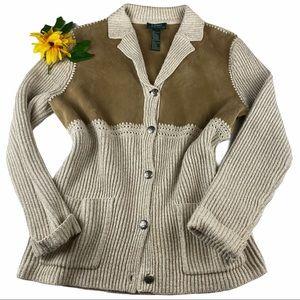 Ralph Lauren Jacket Long Sleeve Silk Linen sweater